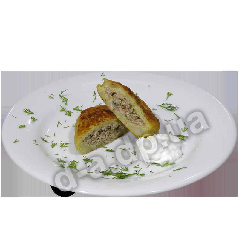 Зразы картофельные с курицей и сметаной